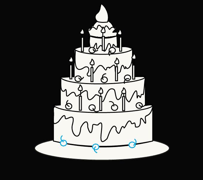 big birthday cake 32 awesome image of birthday cake drawing impresiones cake birthday big