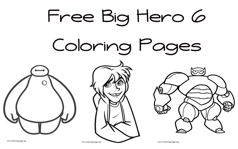 big hero 6 free colouring pages big hero 6 coloring pages coloring home colouring pages 6 free hero big