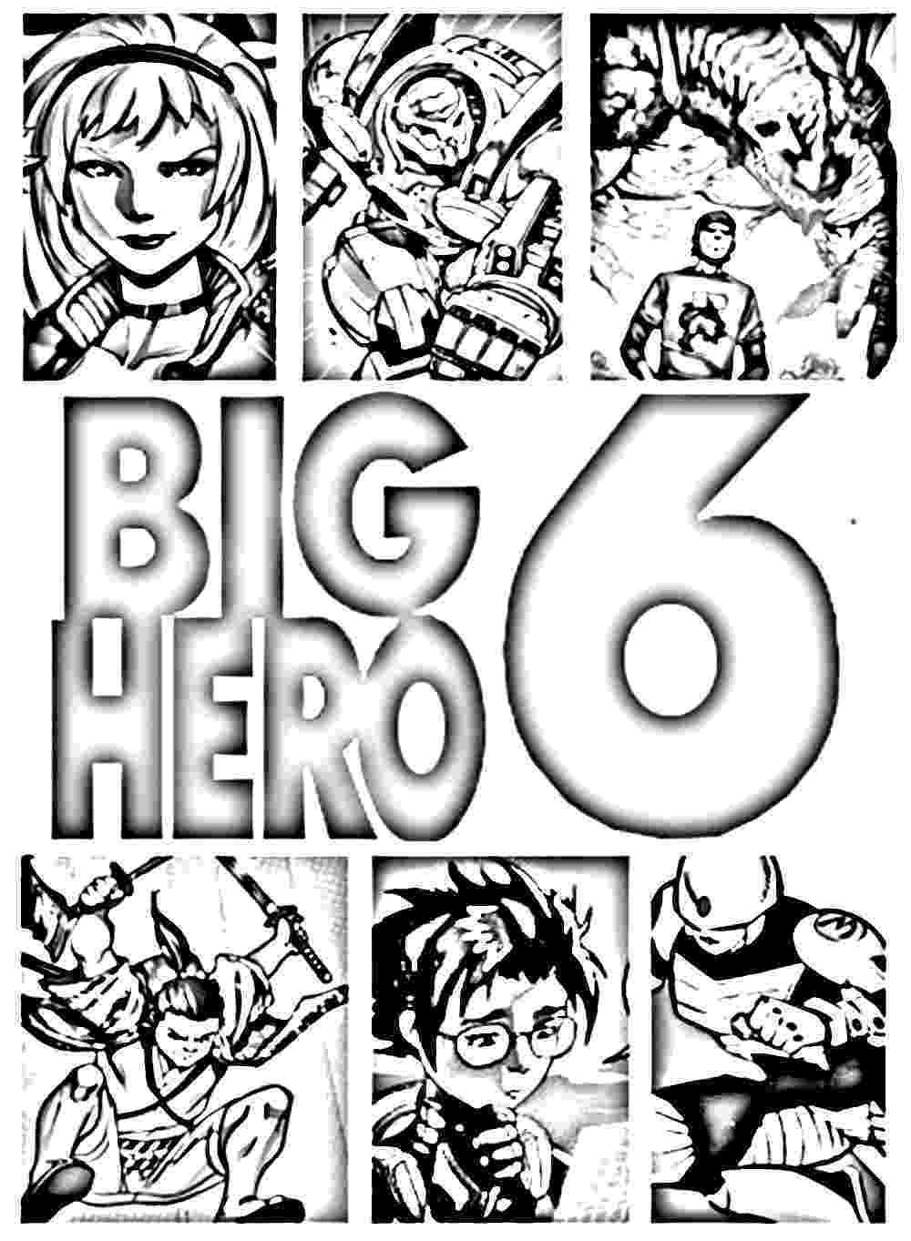 big hero 6 free colouring pages big hero 6 to print for free big hero 6 kids coloring pages pages big colouring 6 hero free