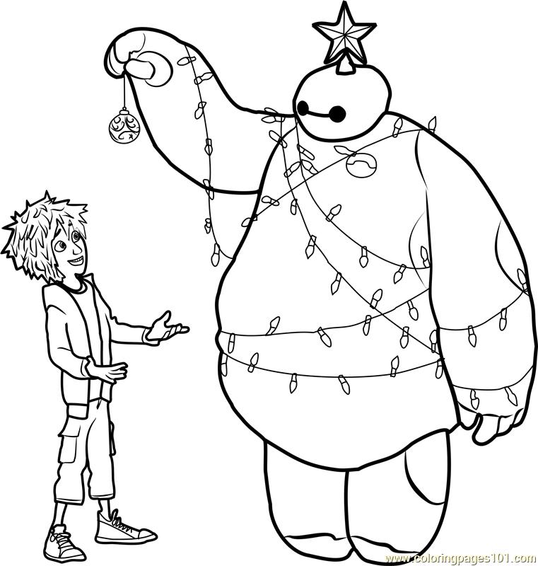 big hero 6 free colouring pages hiro and baymax christmas coloring page free big hero 6 big free pages hero 6 colouring
