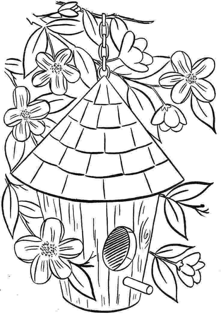 birdhouse coloring pages birdhouse coloring page coloring home pages coloring birdhouse