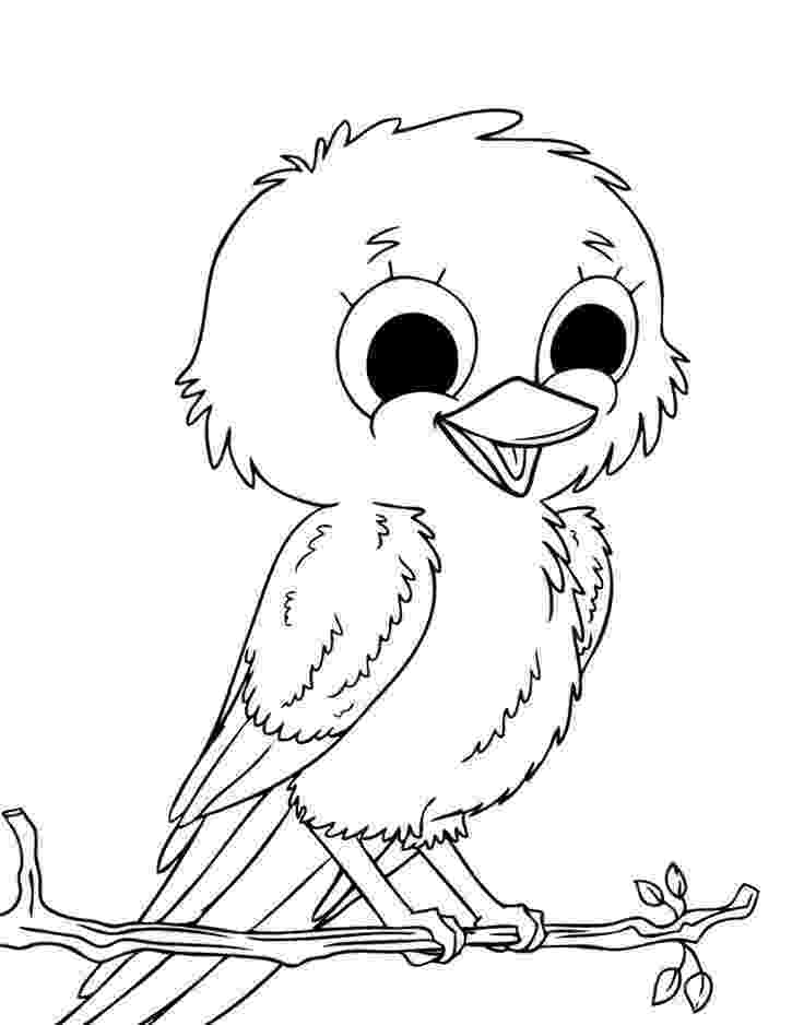 birds to color mother baby bird coloring page pitara kids network birds color to