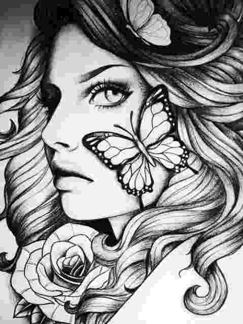 black and white colouring pages art black and white and girl image adult coloring book black white colouring pages and