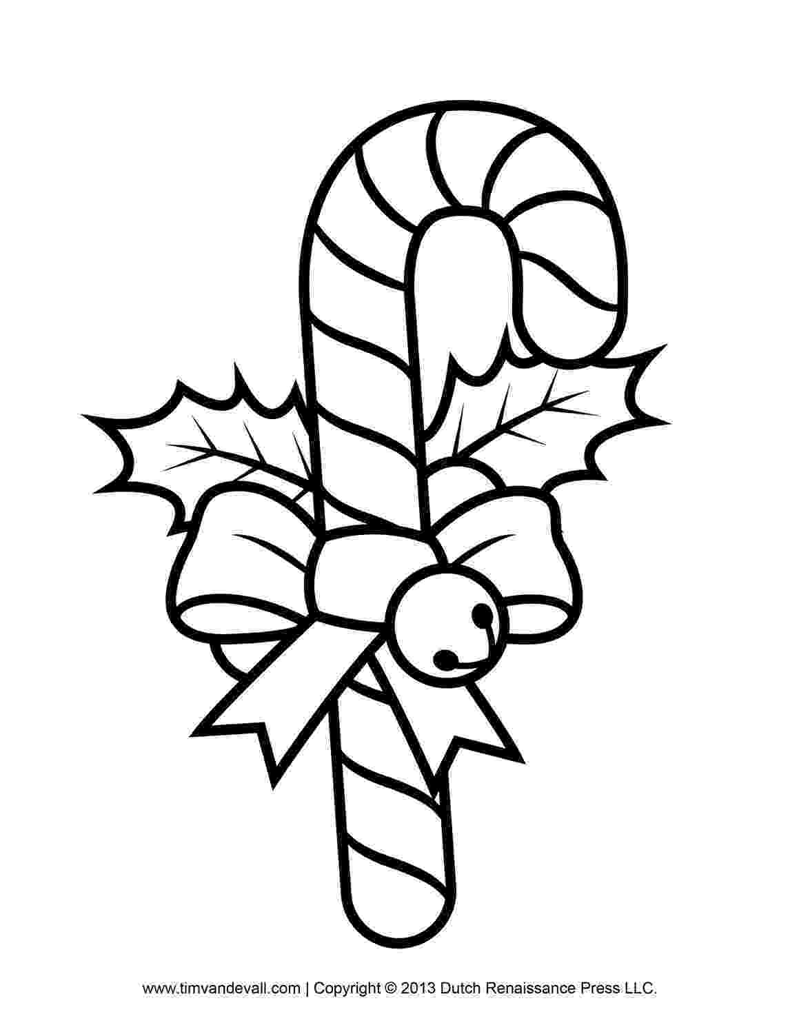 black and white colouring pages free candy cane template printables clip art decorations black white and pages colouring