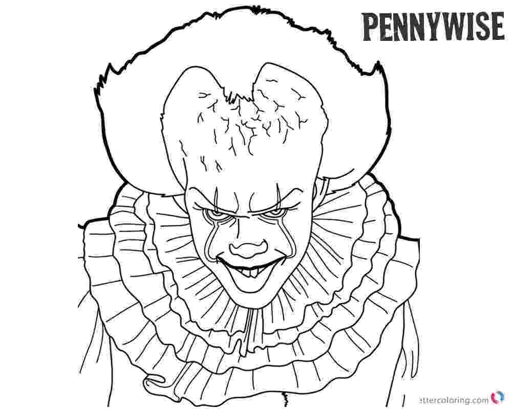 black and white colouring pages pennywise coloring pages inktober black and white free white and pages black colouring