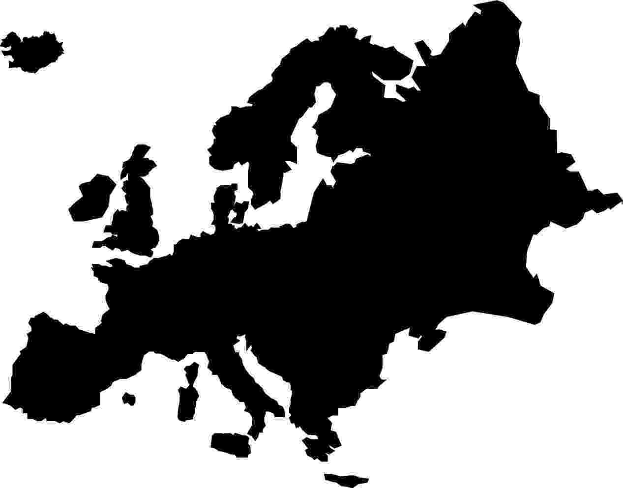 black and white map of europe map notragothic and black white of europe map