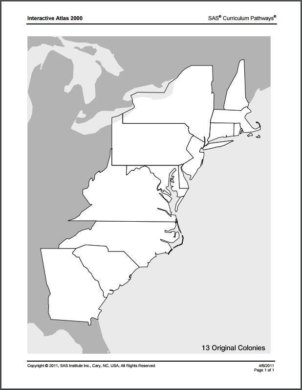blank 13 colonies map 13 colonies hawken quiz by kbrickman 13 blank colonies map