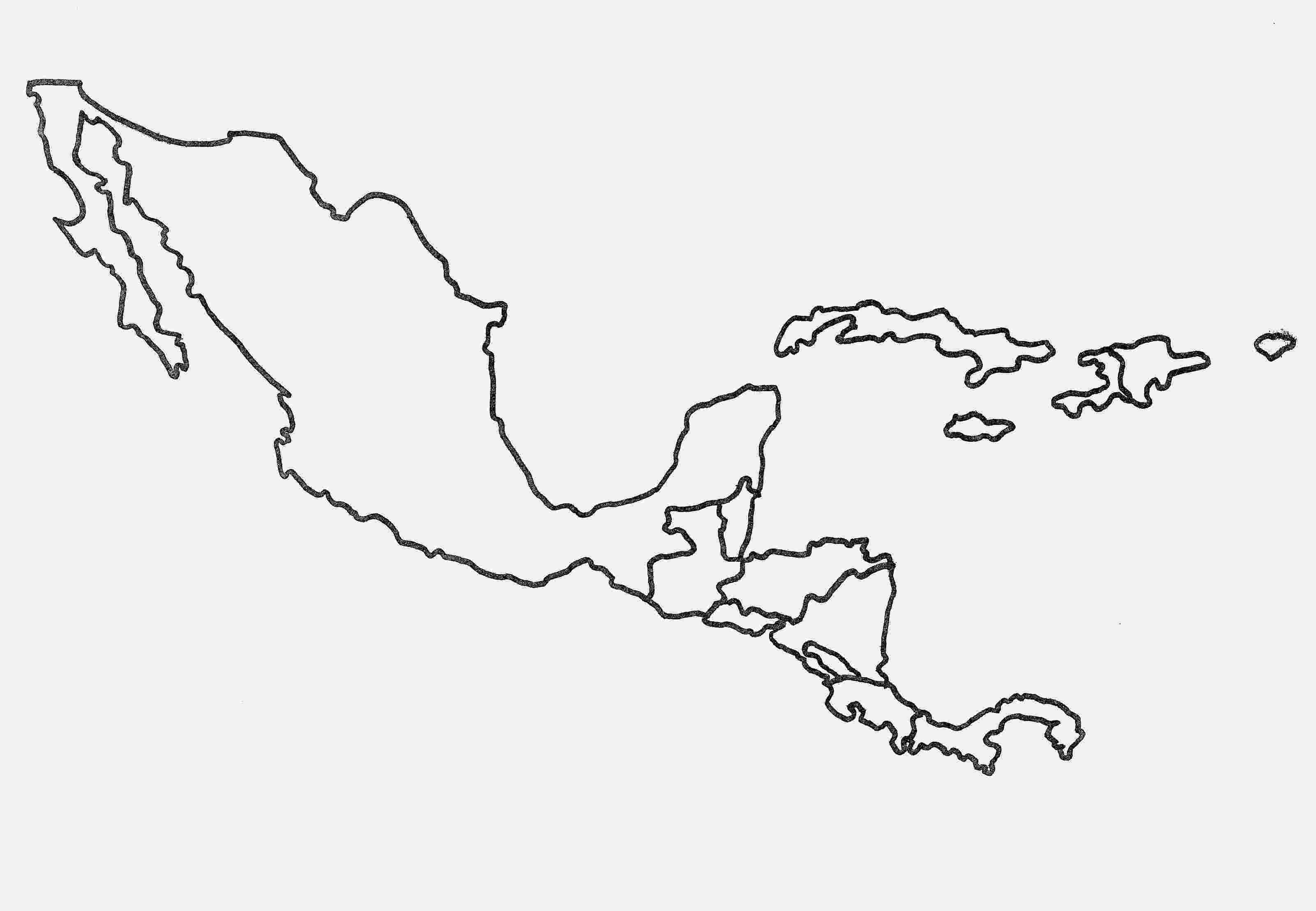blank map of central america blank map of central and south america printable and of central blank map america