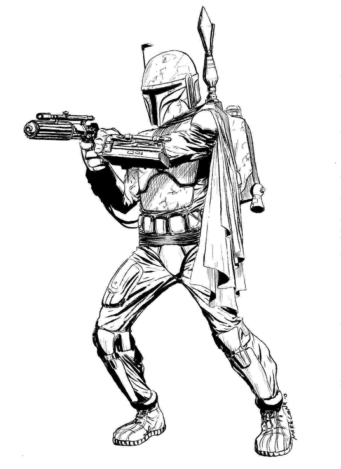 boba fett coloring page the art of mark lone lineart gt color boba page fett coloring