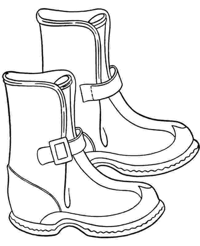 boot coloring pages winter boots clipart free download best winter boots coloring boot pages
