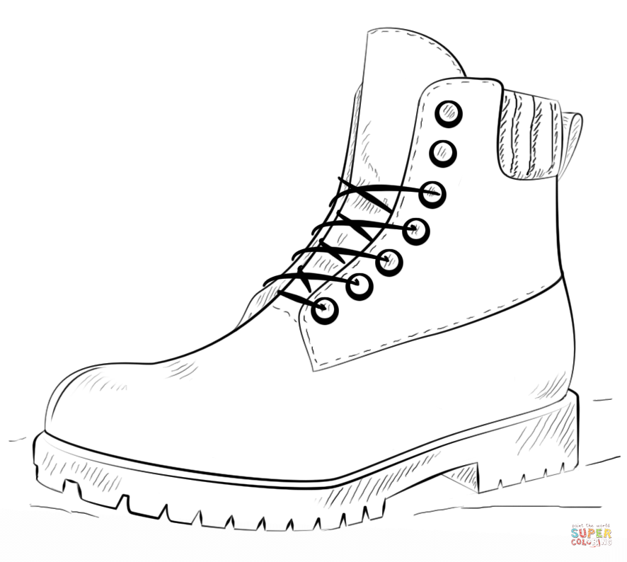 boot coloring pages work boot coloring page free printable coloring pages boot coloring pages