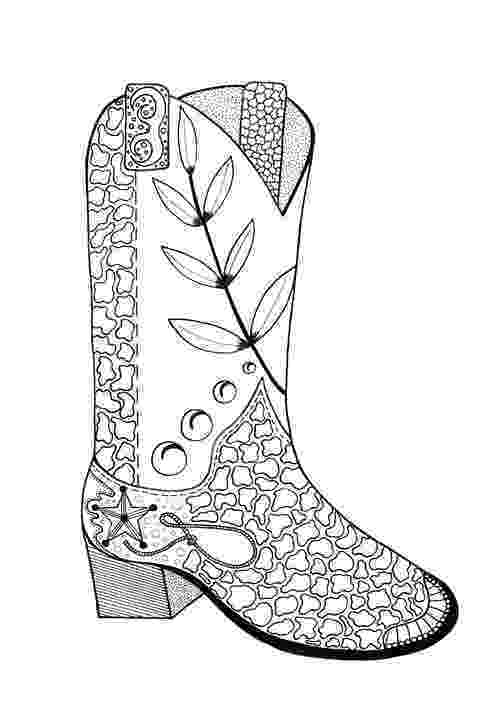 boots coloring page cowboy boot adult coloring page favecraftscom boots page coloring