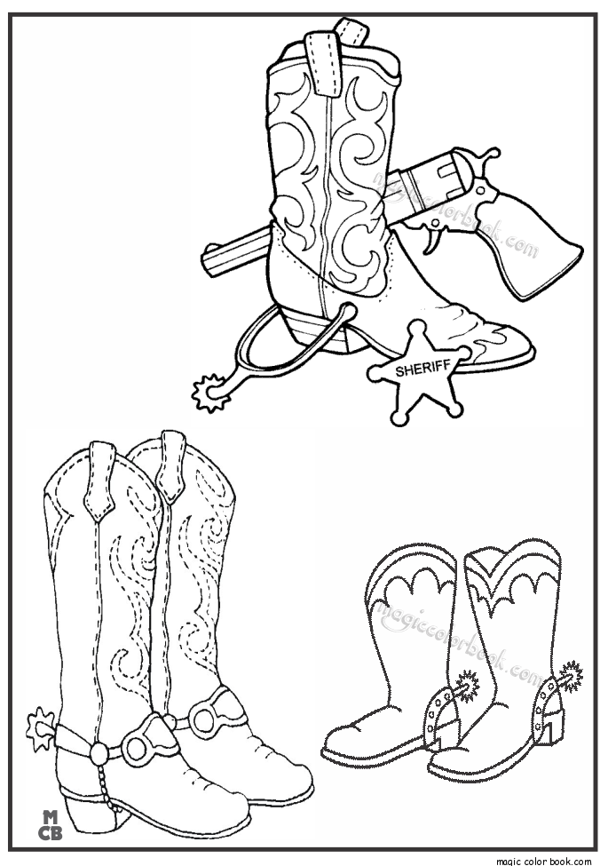 boots coloring page free printable cowboy coloring pages for kids boots coloring page