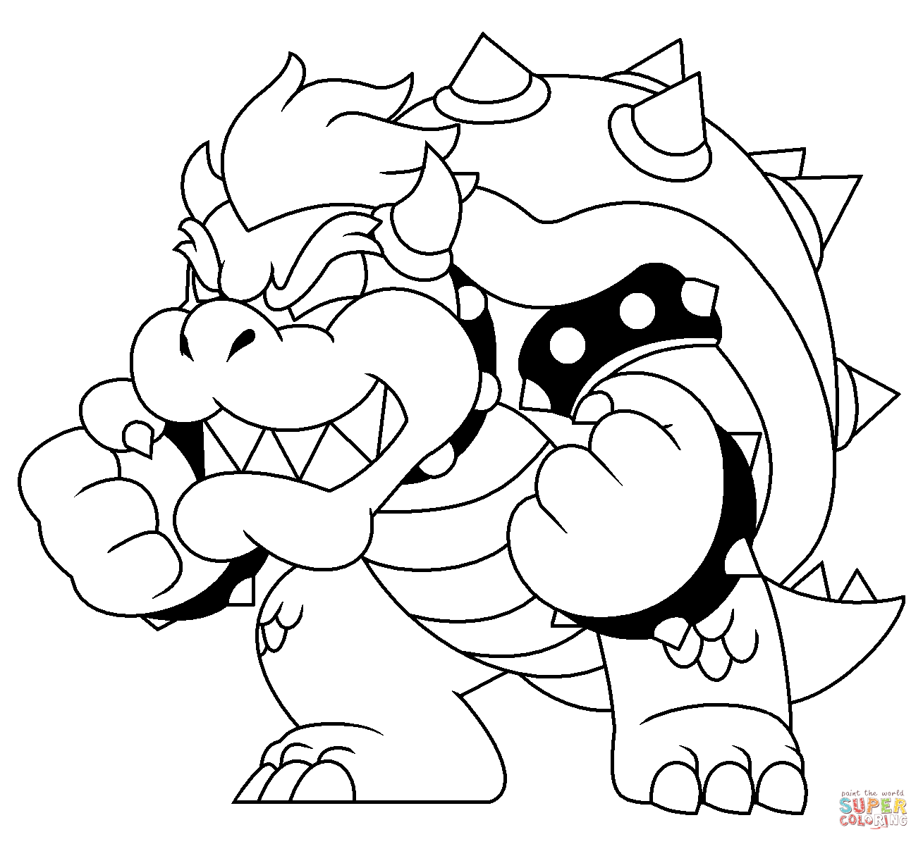 bowser picture bowser coloring bowser coloring pages dry bowser mario picture bowser