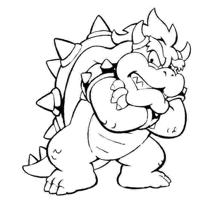 bowser picture mario bowser coloring pages download and print for free picture bowser