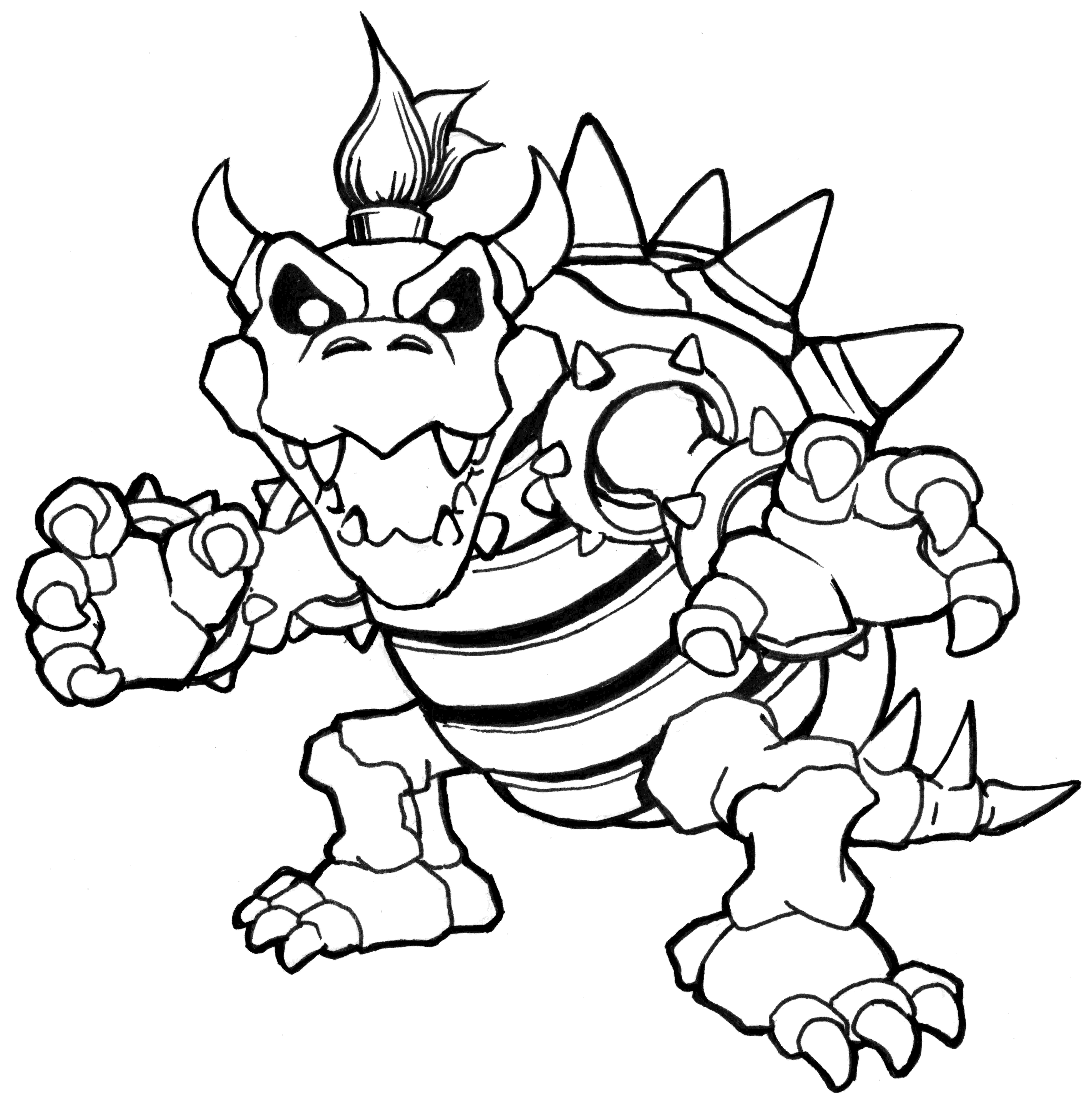bowser picture new coloring page bowser vanquish studio bowser picture