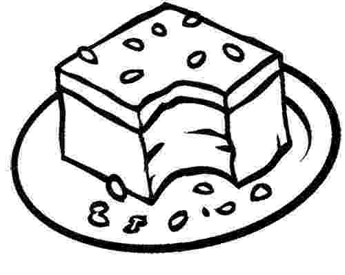 brownie color bizarre food online coloring pages page 1 color brownie