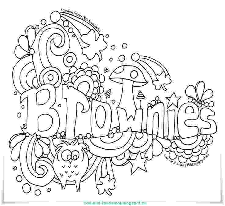 brownie color brownie coloring pages at getcoloringscom free color brownie