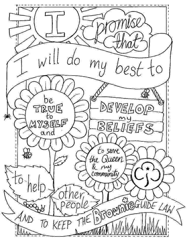 brownie color canadian girl guide coloring page western hemisphere brownie color