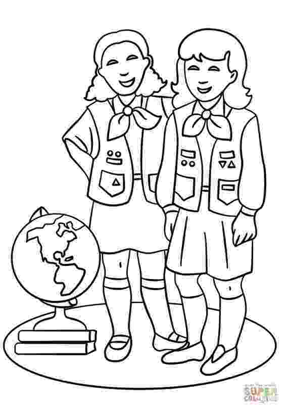 brownie color girl scout brownie coloring pages coloring home brownie color