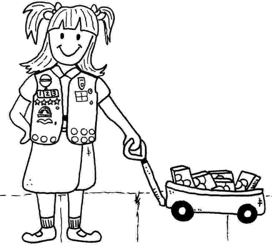 brownie color girl scout cookies coloring pages for kids gs coloring color brownie