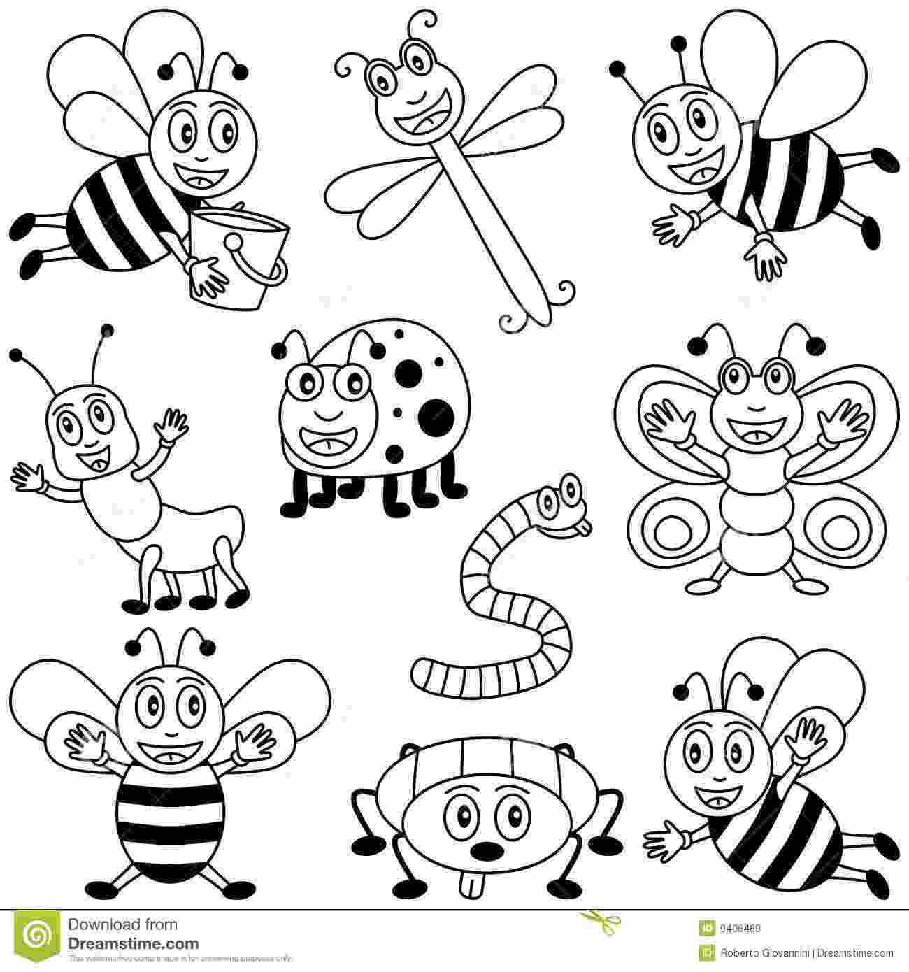 bugs colouring pages coloring insects for kids stock vector illustration of pages colouring bugs