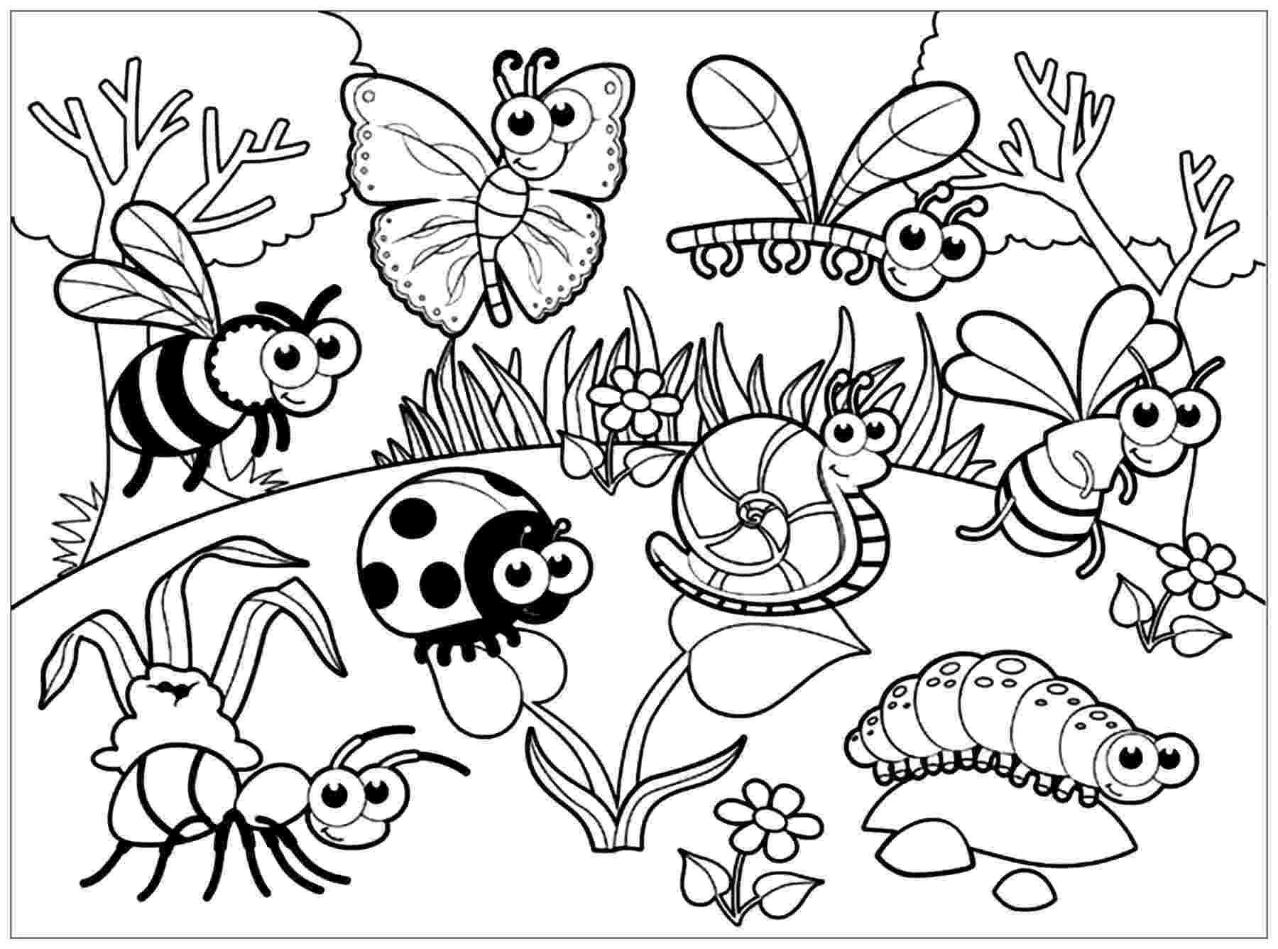 bugs colouring pages insects to print insects kids coloring pages colouring bugs pages