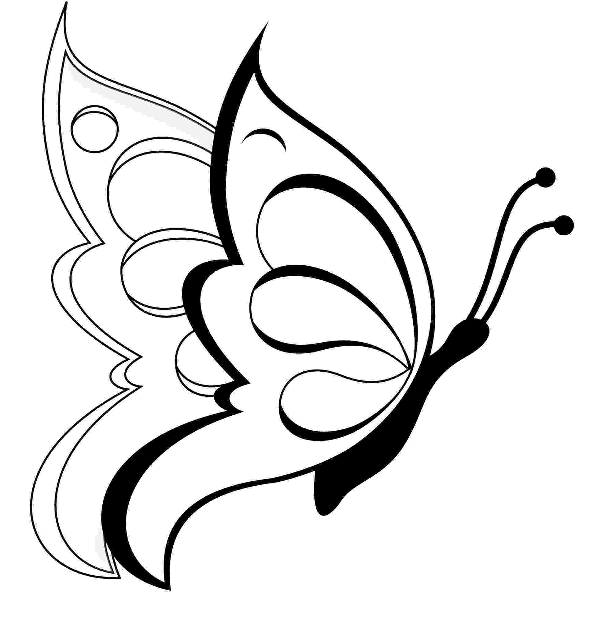 butterflies to color free butterfly coloring pages free color butterflies to