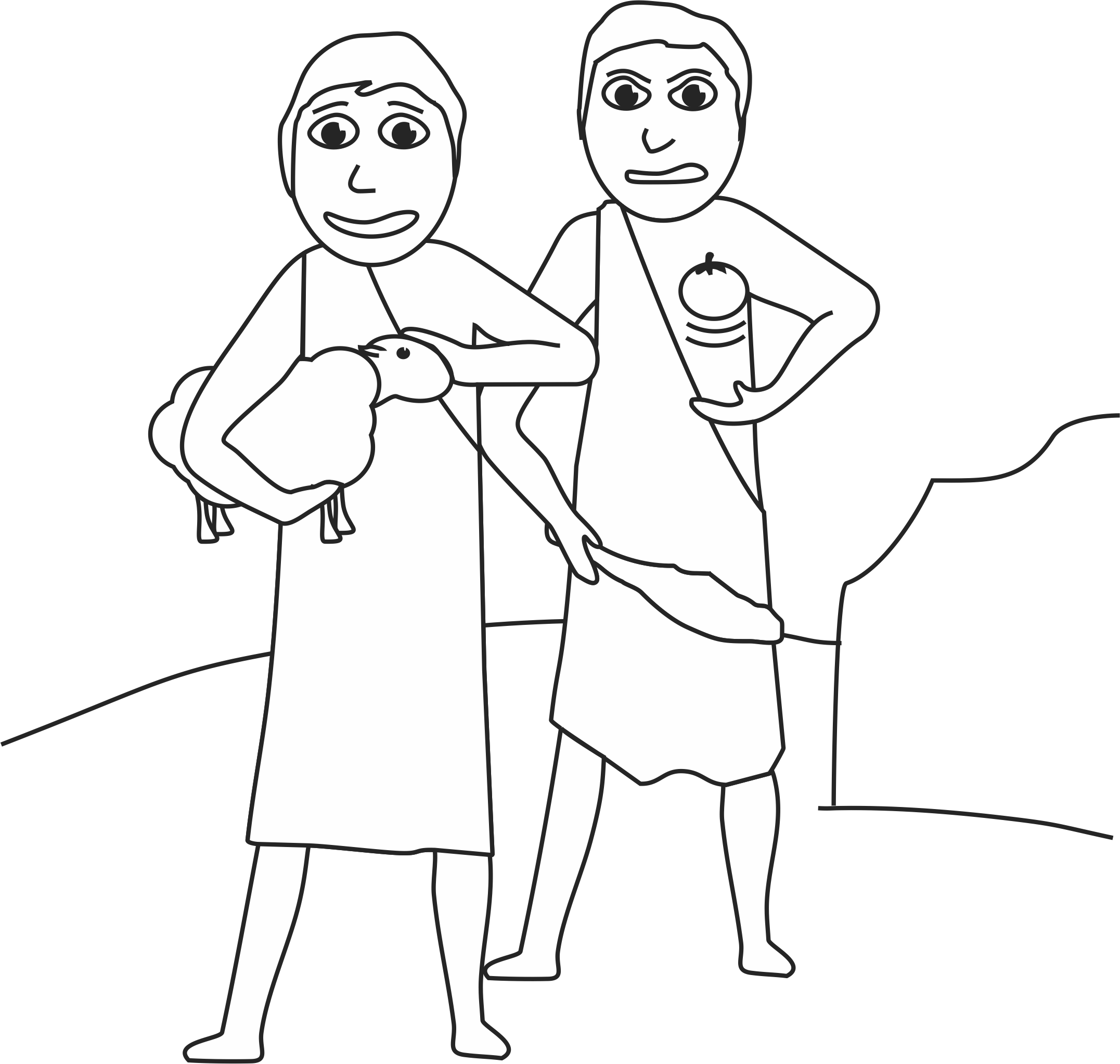cain and abel coloring pages cainoeabele21jpg 9191056 bible cain and abel abel coloring pages and cain