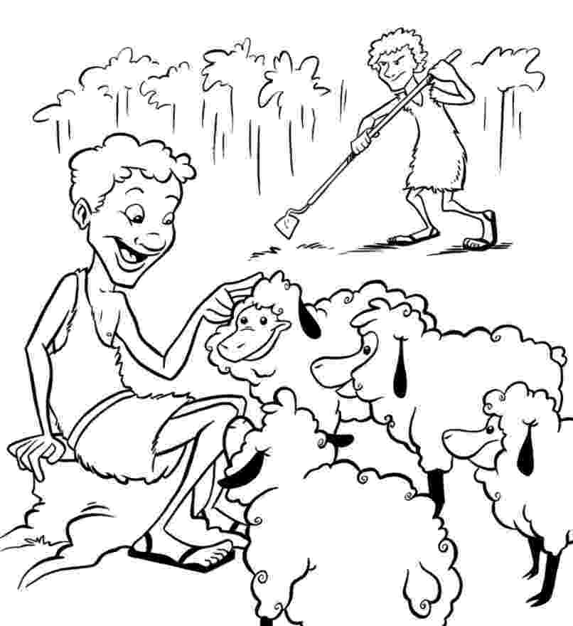 cain and abel coloring sheet 17 best images of 2nd grade preposition worksheet abel cain sheet coloring and