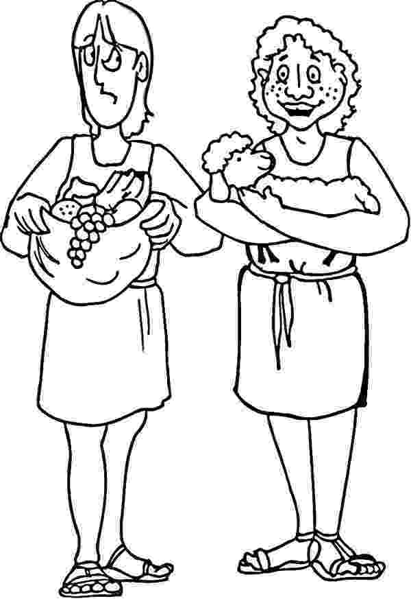cain and abel coloring sheet abel and cain sacrifice to god coloring page coloring sky coloring abel and sheet cain