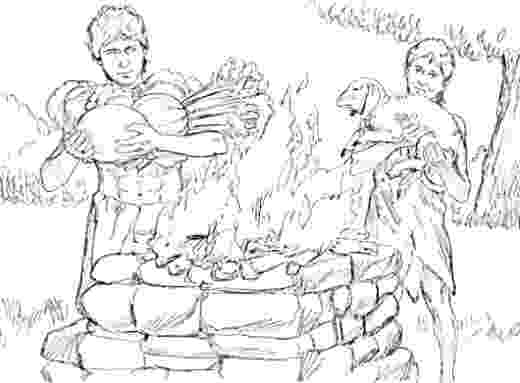 cain and abel coloring sheet cain and abel cain and abel drawings coloring sheet and cain abel