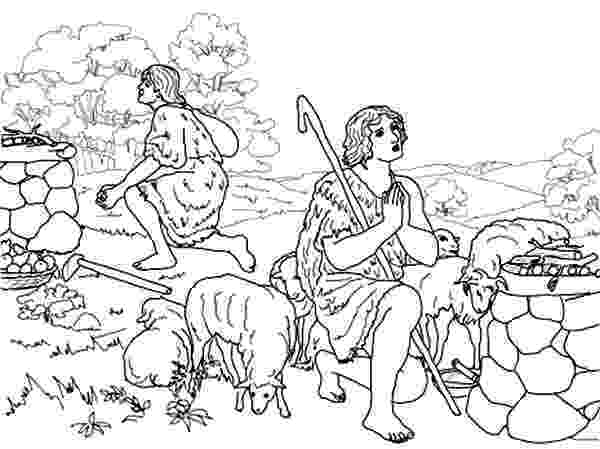 cain and abel coloring sheet cain and abel coloring pages abel sheet and cain coloring