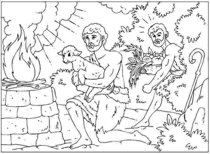 cain and abel coloring sheet cain and abel the way of sacrifice coloring page free cain and coloring sheet abel