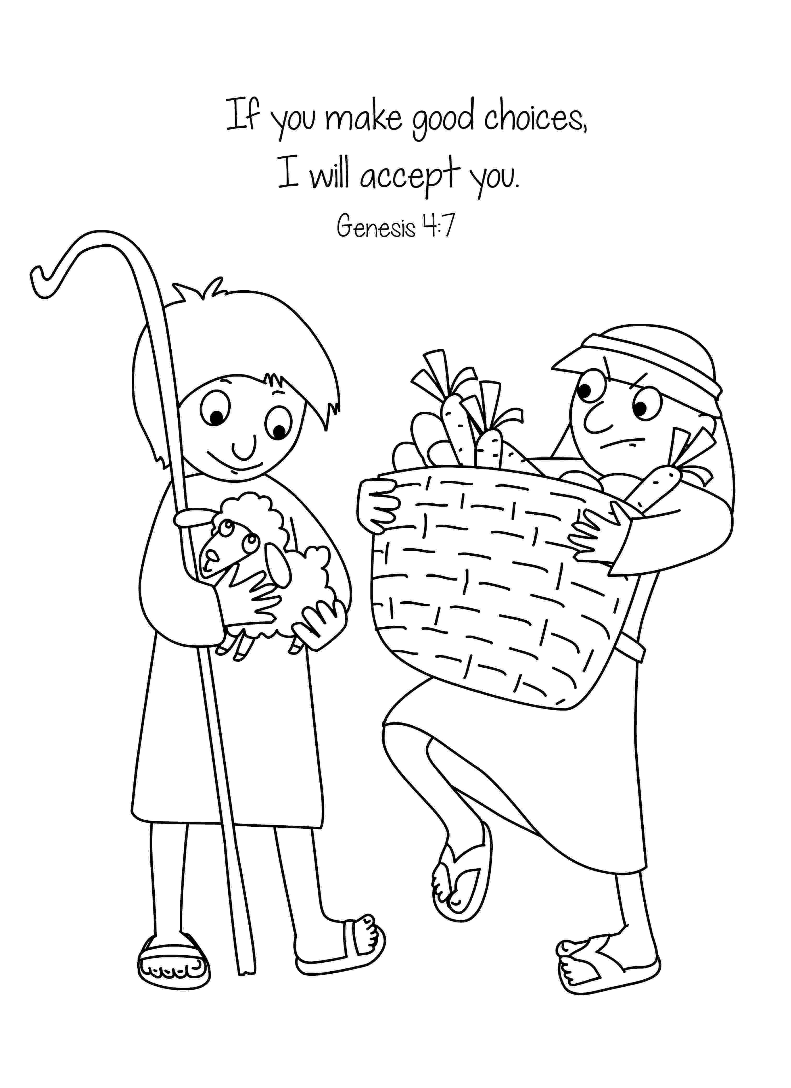 cain and abel coloring sheet my children39s curriculum cain and abel abel sheet cain and coloring