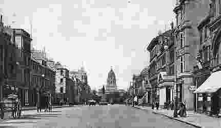 capital of great britain old photograph of george street edinburgh scotland britain great of capital