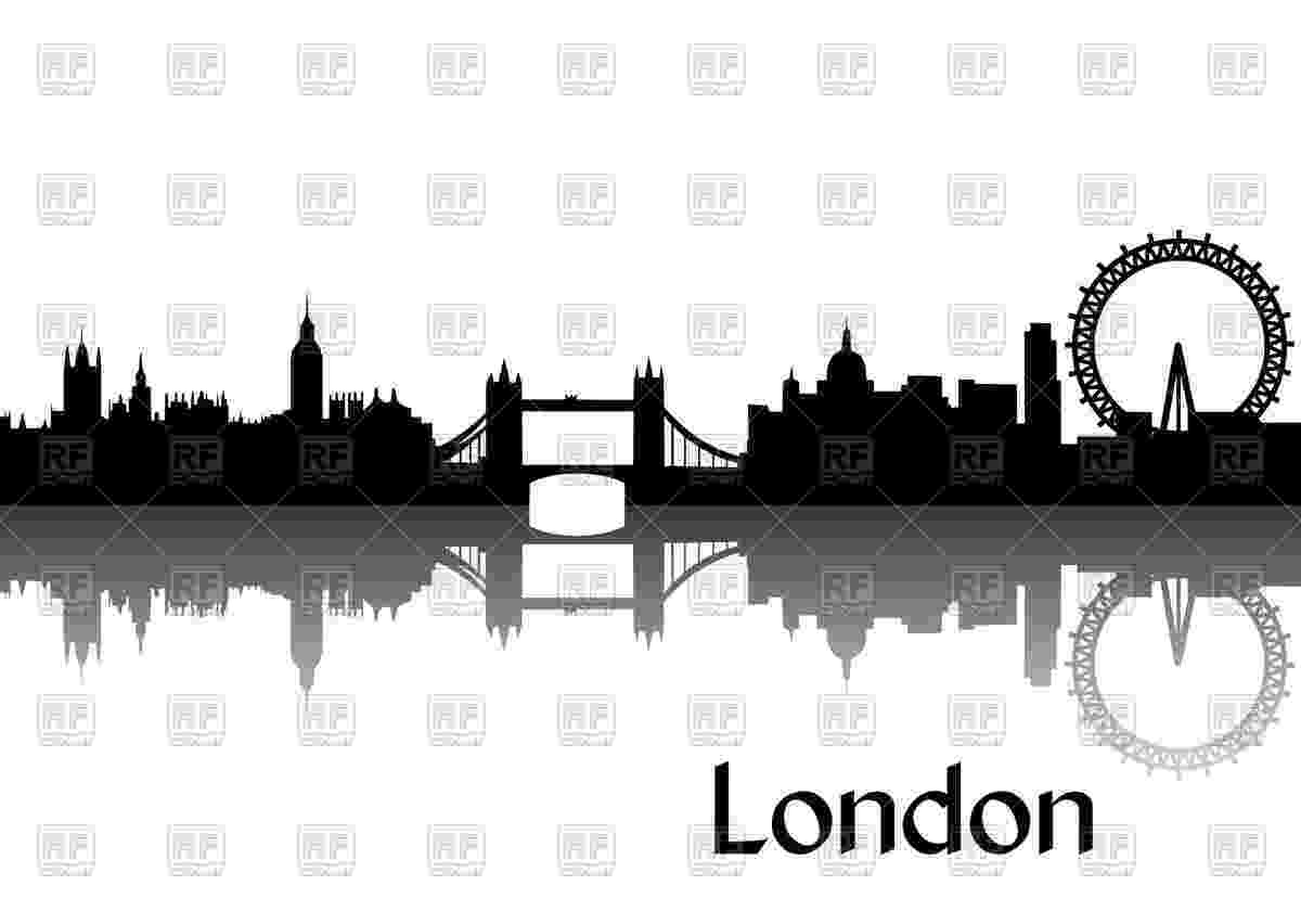 capital of great britain silhouette of cityscape of london capital of great great britain of capital