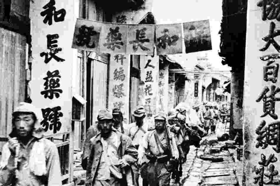 capital of great britain the japanese troops entered the changle street in the city of capital great britain