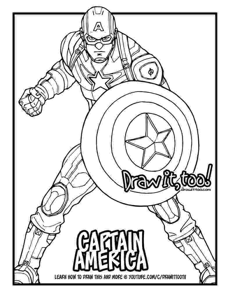 captain america colouring pages captain america captain america civil war drawing america pages captain colouring