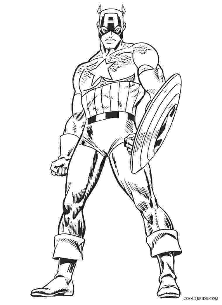 captain america colouring pages captain america captain america kids coloring pages pages america captain colouring