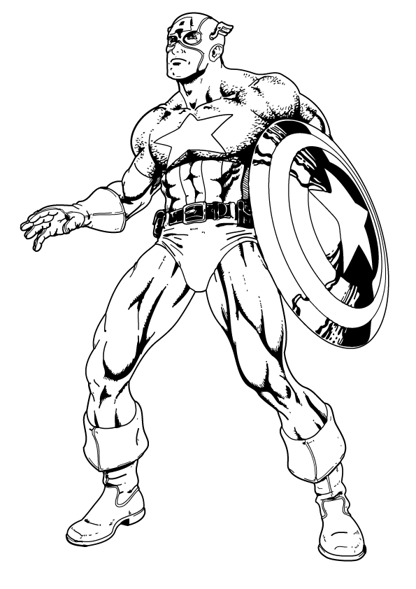 captain america colouring pages captain america cartoon drawing at getdrawings free download pages captain america colouring
