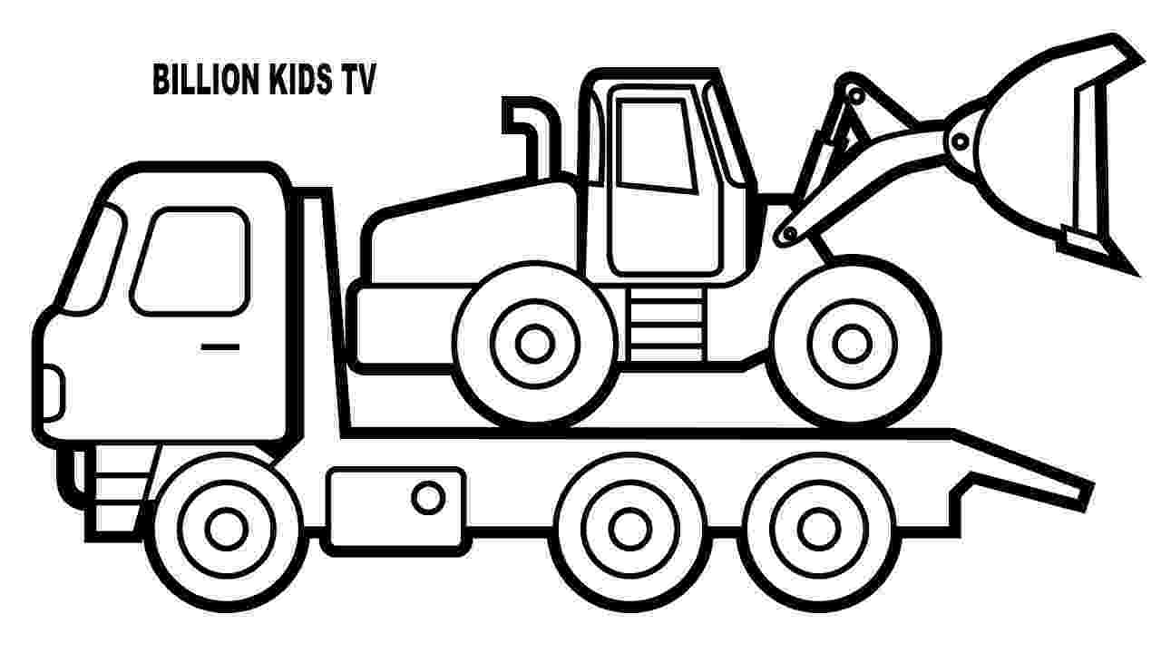 car and truck coloring pages crane truck drawing at getdrawingscom free for personal car truck coloring pages and