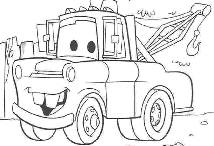 car colouring sheets mater from cars coloring pages download and print for free colouring sheets car