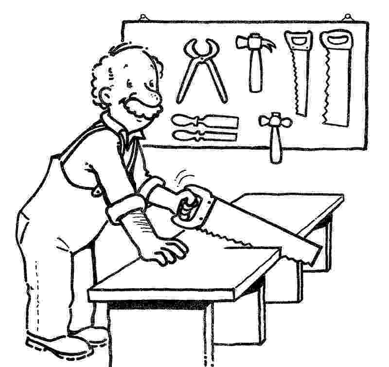 carpenter coloring pages carpenter kiddicolour pages carpenter coloring
