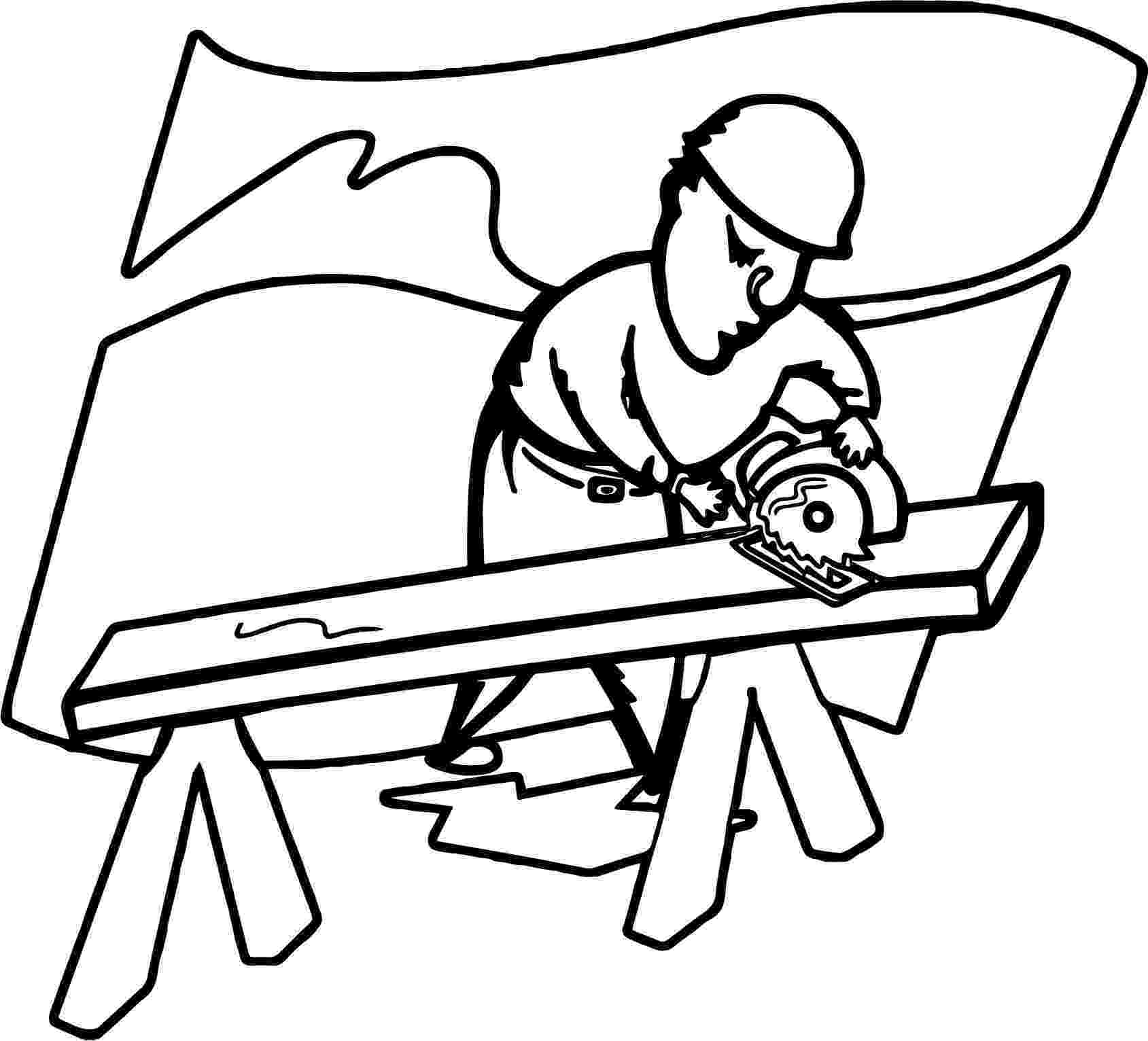 carpenter coloring pages carpenter making a table in community helpers coloring coloring pages carpenter