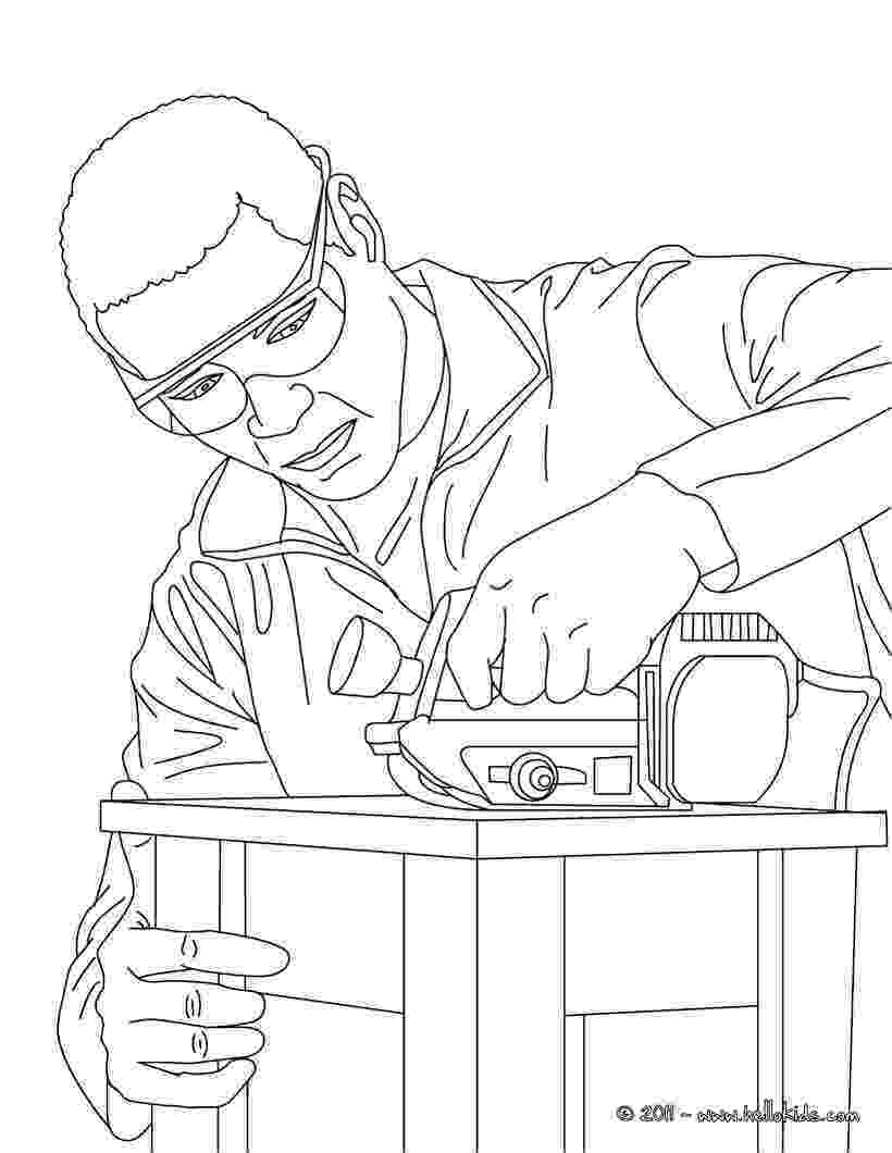 carpenter coloring pages carpenter making a wood chair coloring pages hellokidscom coloring carpenter pages