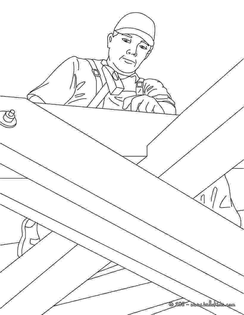 carpenter coloring pages carpenter on a roof sturcture coloring pages hellokidscom carpenter coloring pages