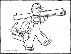 carpenter coloring pages carpenter on wood stairs coloring pages hellokidscom pages coloring carpenter