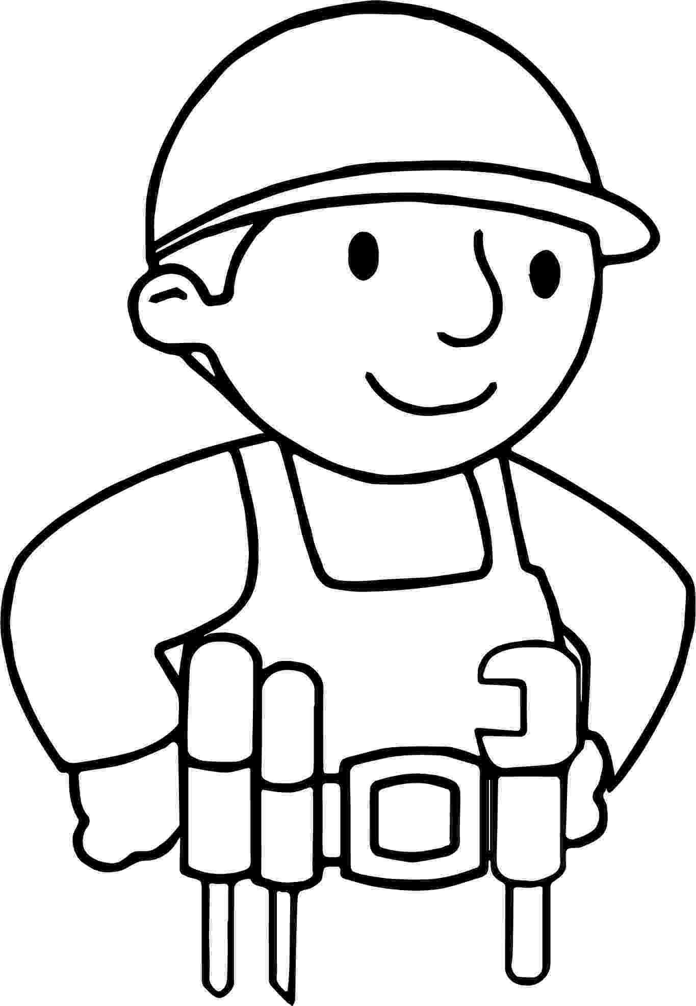 carpenter coloring pages carpenter worker coloring page wecoloringpagecom pages coloring carpenter