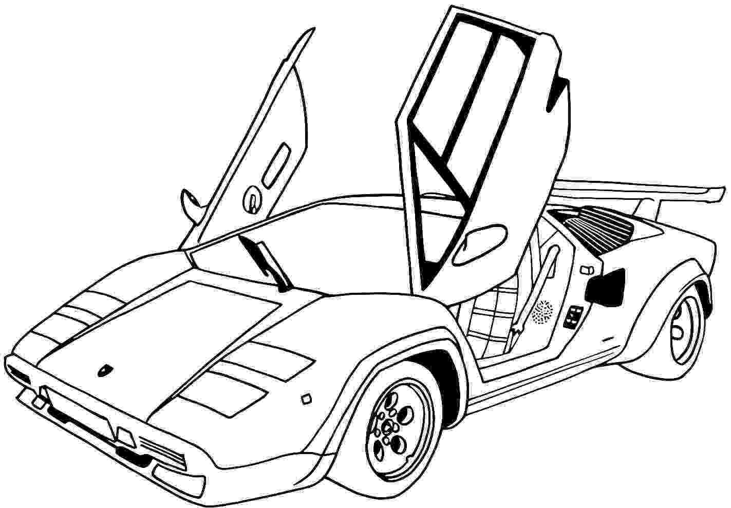 cars to color and print free printable lamborghini coloring pages for kids print and color cars to